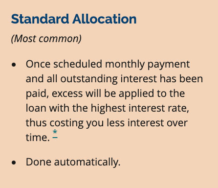 Standard Allocation for Excess Payments