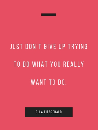 Ella Fitzgerald quote for grads