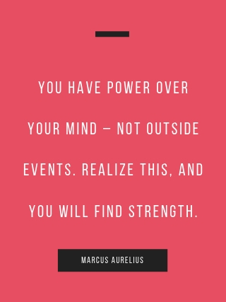 Marcus Aurelius inspirational quote